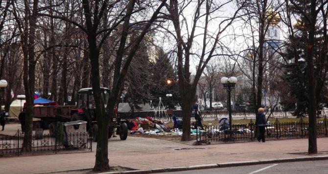 Что произошло с палатками «Луганской гвардии» в центре города? (фото)