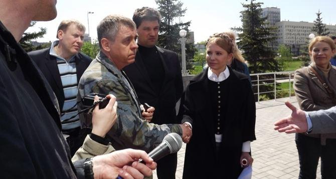 Захватчики здания СБУ в Луганске утверждают, что Тимошенко врет