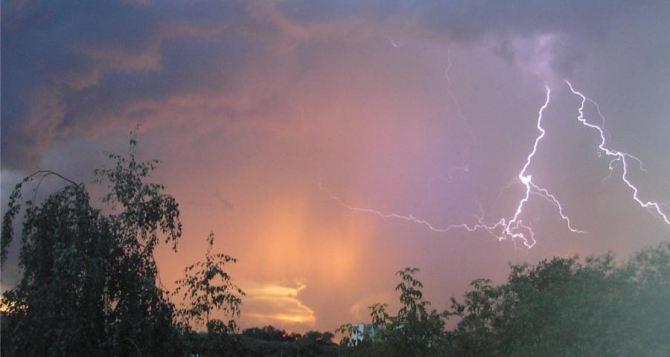 Погода в Луганске на завтра, 29апреля: гроза