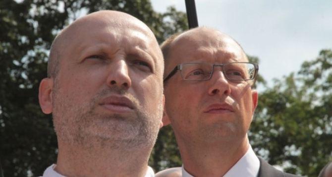Турчинов и Яценюк объявили о проведении круглых столов национального единства