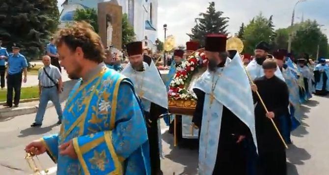 В Луганске молились за мир (видео)