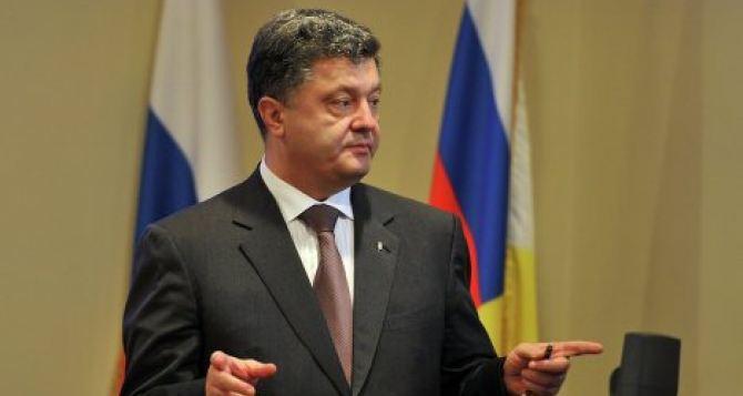 Порошенко надеется, что огонь на Донбассе прекратится до конца недели