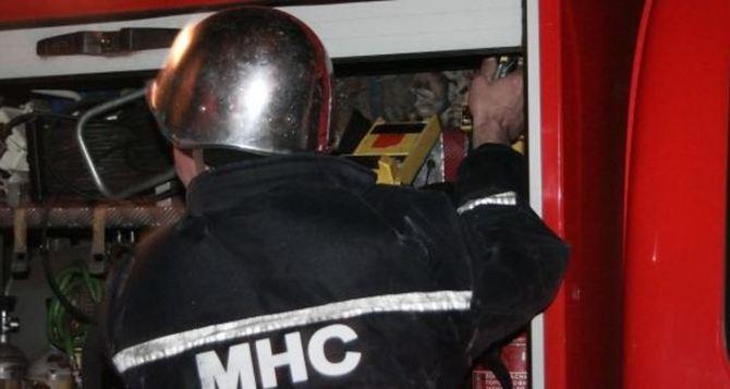 В Луганской области горела пятиэтажка
