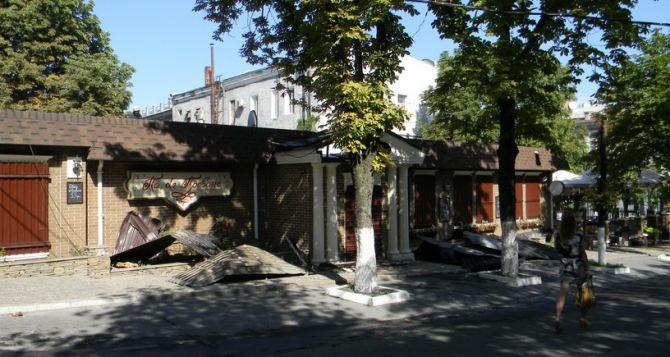 Как выглядит луганский ресторан «Па де Прованс» после обстрела (фото)