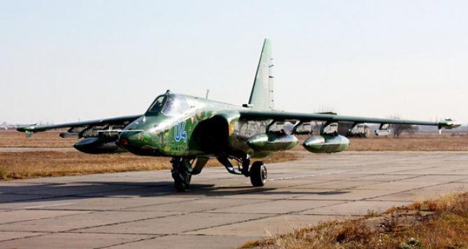 Российский военный самолет сбил украинский Су-25 в небе над Донбассом. —Минобороны