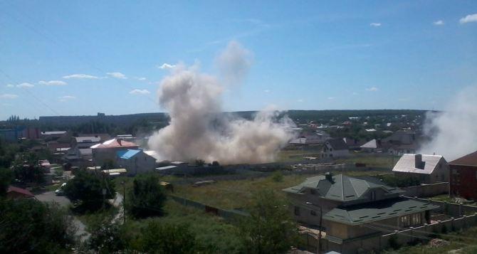 В Луганске под обстрел попал частный сектор в восточной части города. —Социальные сети (фото)
