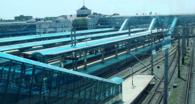 Железнодорожный вокзал в Донецке возобновил свою работу