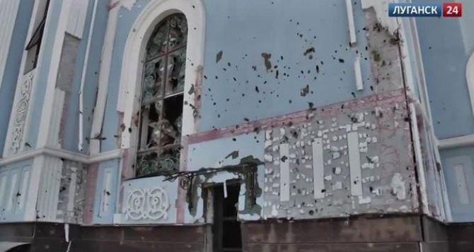 Луганский храм «Умиление» попал под артобстрел (фото, видео)