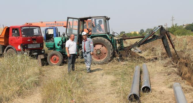 В Молодогвардейске за месяц проложили альтернативный водопровод (фото)