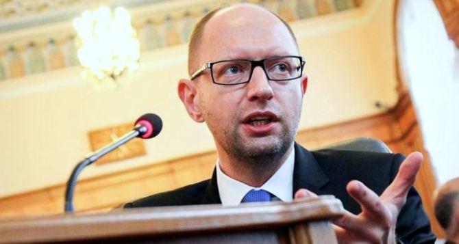 Яценюк пообещал не забирать у других регионов деньги на восстановление Донбасса