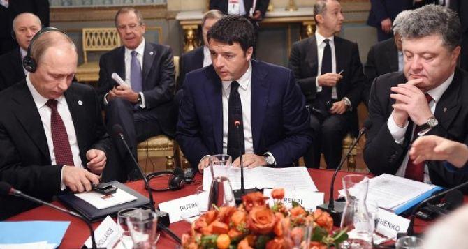 Мы сделали важный шаг в дискуссии по Украине. — Ренци о рабочем завтраке с участием Порошенко и Путина