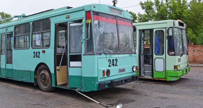 В Луганске восстанавливают троллейбусную сеть