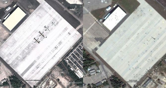 Донецк в Google Maps: до начала боевых действий и после (фото)