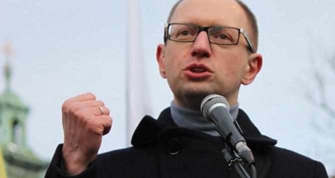 Гуманитарная катастрофа на Донбассе будет на совести Кремля. — Яценюк