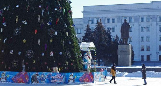Отключение света и звуки перестрелки. —Ситуация в Луганске 13января