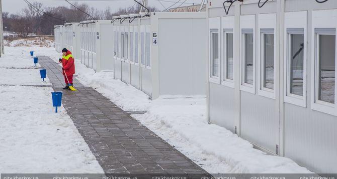 В Харькове официально открылся модульный городок для переселенцев