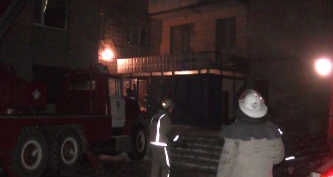 В центре Харькова горел девятиэтажный жилой дом