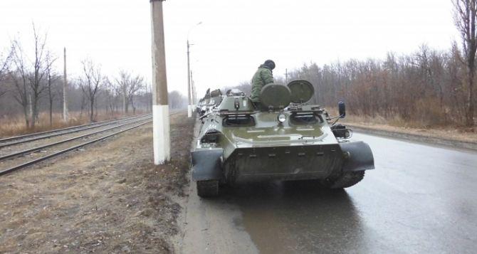 ЛНР продолжает отвод тяжелого вооружения от линии огня (фото)