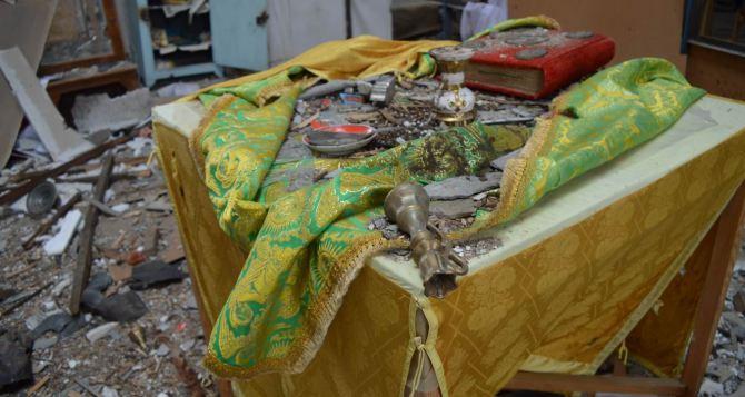В Луганской области «Градами» разрушили храм, который пережил две войны (фото)