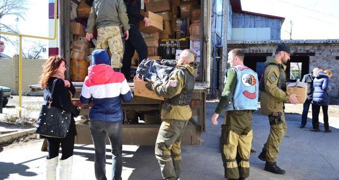 Байкеры доставили жителям Луганской области гуманитарную помощь из Европы