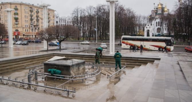 В Харькове к началу сезона готовят фонтаны