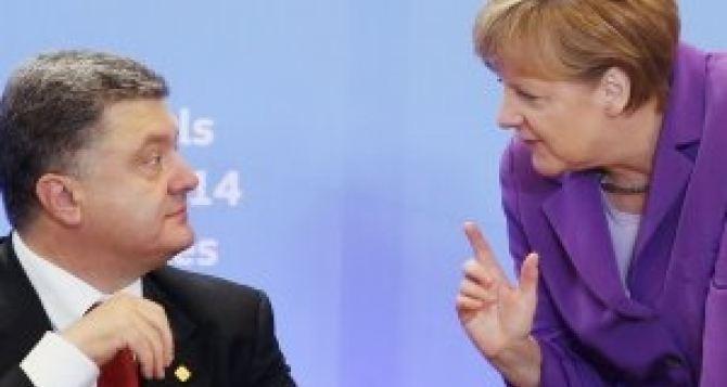 Безвизовый режим для Украины сЕС пока невозможен. —Меркель