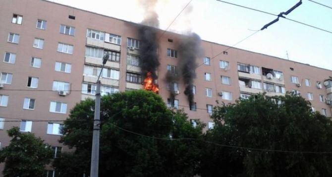 Из-за пожара в центре Харькова пришлось эвакуировать 15 человек