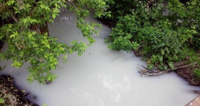 В Харьковской области побелела река. Зараженная вода идет в Северский Донец