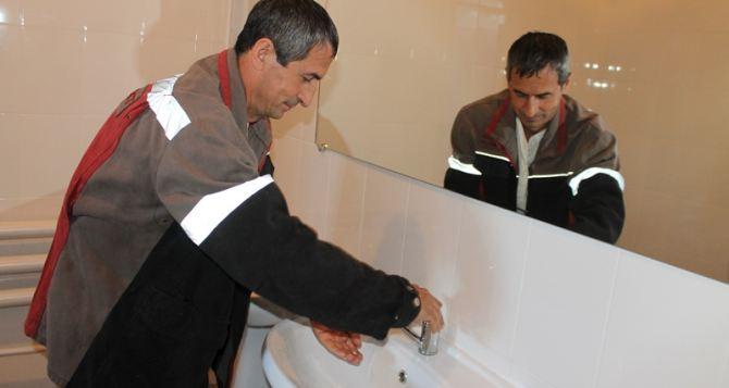 На «Краснодонугле» отремонтировали мужской банный комплекс