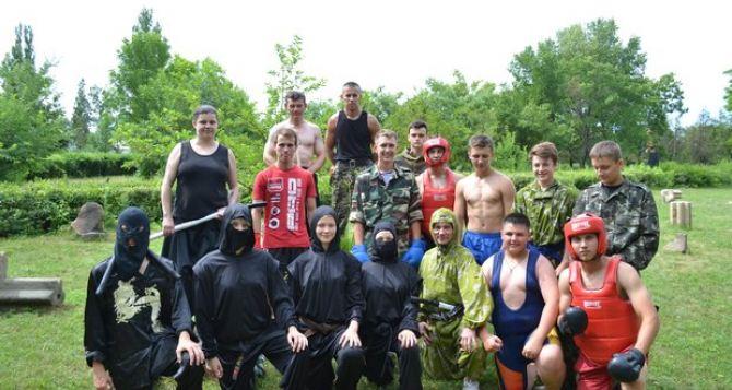 В Луганской области каратисты устроили «Тропу Самурая» (фото)
