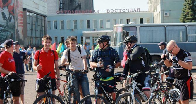 «Краснодонуголь» отметил День шахтера велопробегом (фото)