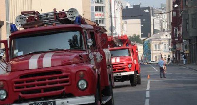 В Харькове из горящего дома эвакуировали людей