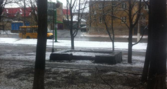 В Луганске выпал снег
