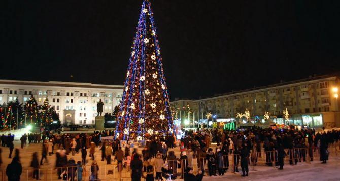 Новый год в Луганске прошел спокойно