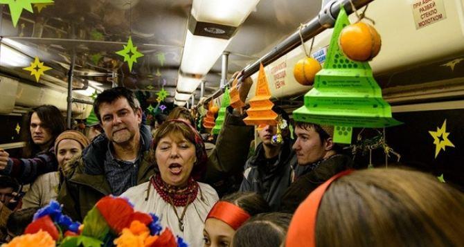 По Харькову поедет рождественский трамвай
