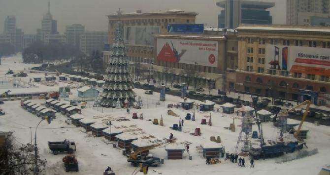 До следующего декабря. В Харькове разбирают новогодний городок