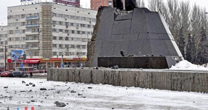 В центре Донецка пытались подорвать памятник Ленину