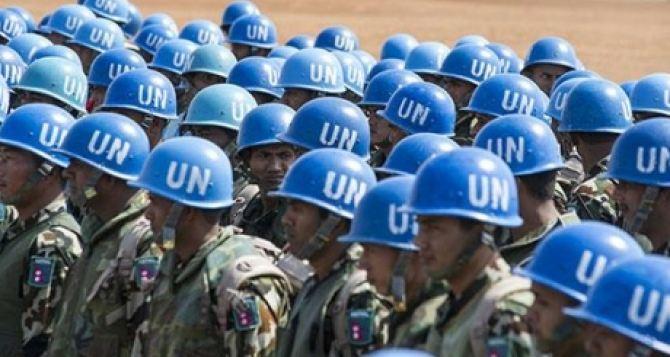 Украина призывает ООН ввести миротворцев на Донбасс