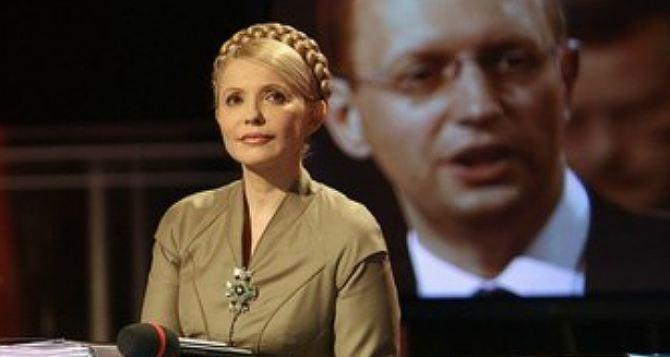Тимошенко настаивает на отставке Яценюка