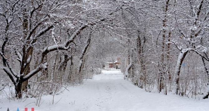 В Донецке борются с последствиями снегопада