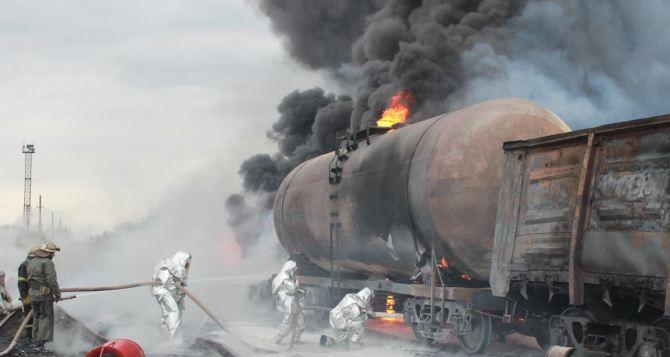 Подробности пожара на железной дороге в Краснодоне (фото)