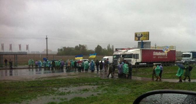 В Киеве участники АТО заблокировали окружную дорогу