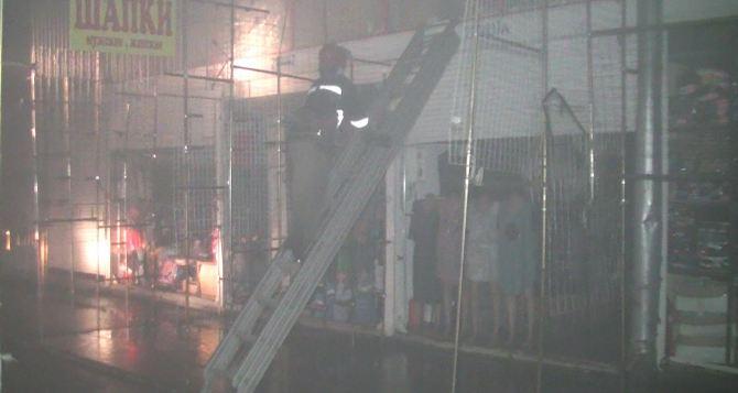 В Харькове горел рынок Барабашово