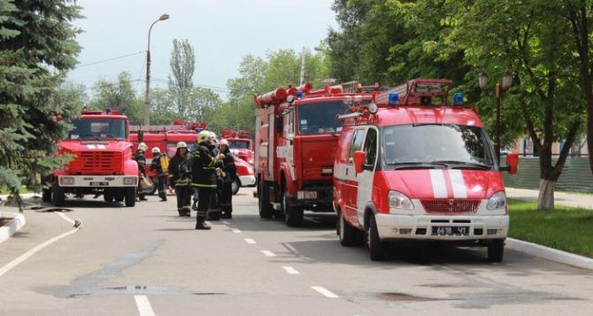 В Луганске провели противопожарные учения в областной больнице (фото)
