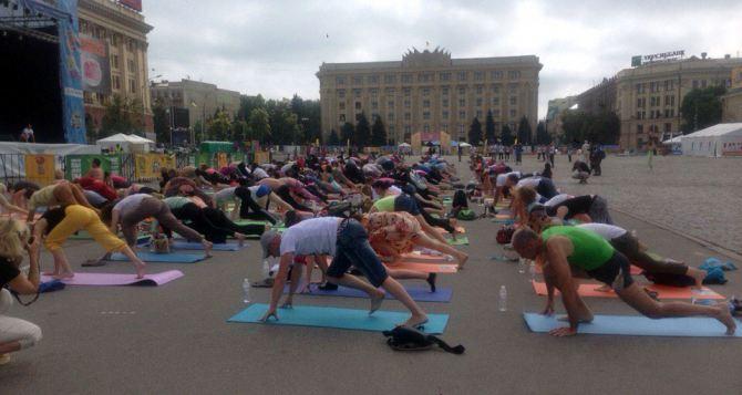 В Харькове отметили международный день йоги