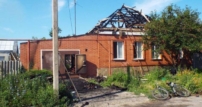 Последствия обстрела Станицы Луганской +