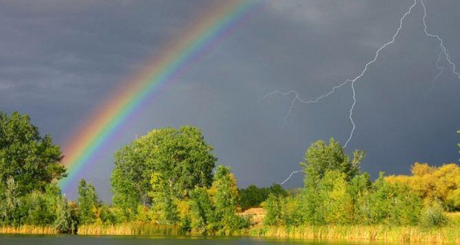 Луганск ожидает резкая смена погоды. В понедельник во второй половине дня возможна гроза