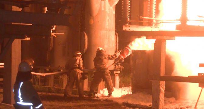 В Харькове горела электростанция