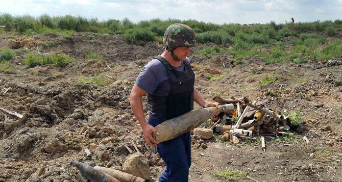 В Луганской области за сутки обнаружили 110 боеприпасов
