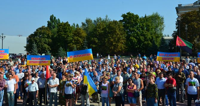В Лисичанске шахтеры устроили акцию протеста (фото, видео)